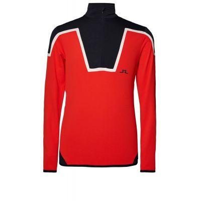 J.LINDEBERG Kimball Blocked Herren Sweater Rot