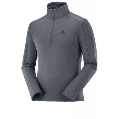 SALOMON Herren Outrack Half Zip Shirt Grau