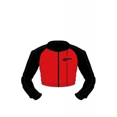 ENERGIAPURA Protector Shirt Racing Junior Schwarz/Rot