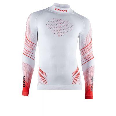 UYN Junior Natyon 2.0 Schweiz Ski Sport Shirt Longsleeve Turtle Neck